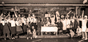 Elephants Delicatessen historic staff photo and celebration