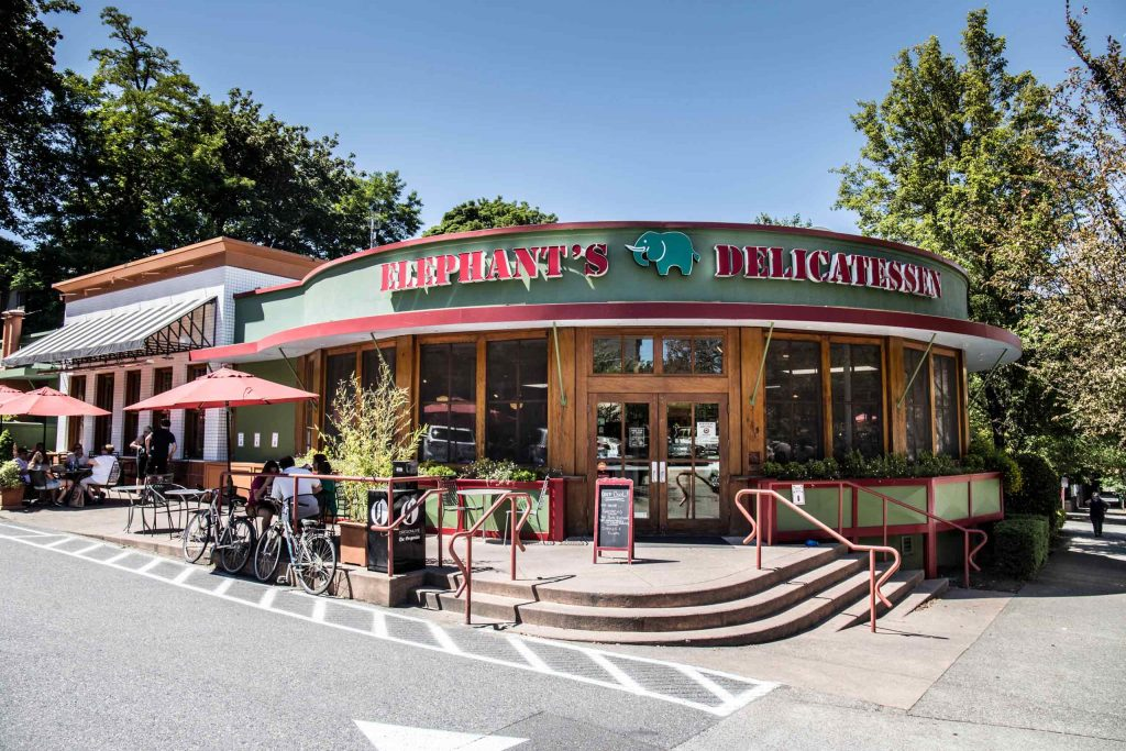 Elephants Delicatessen at NW 22nd store front