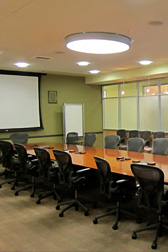 Oregon State Bar meeting room with board table and office chairs