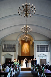 wedding at First Unitarian church