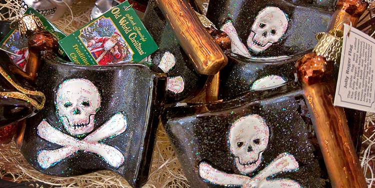 pirate flag skull and crossbones ornament