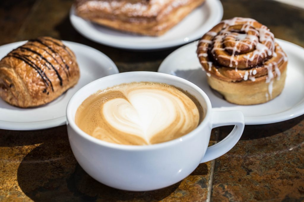 coffee and pastries at Elephants Delicatessen South Waterfront