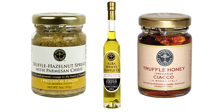 Hazlenut Spread, Truffle Honey, and White Truffle Oil