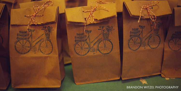 treat bags stamped with bicycles